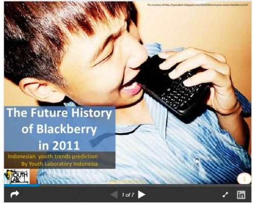 The future history of blackberry in 2011