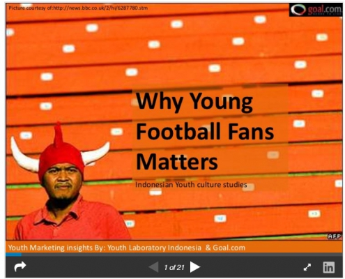 Why young indonesian football fans matters: Marketing sports to Indonesian youth