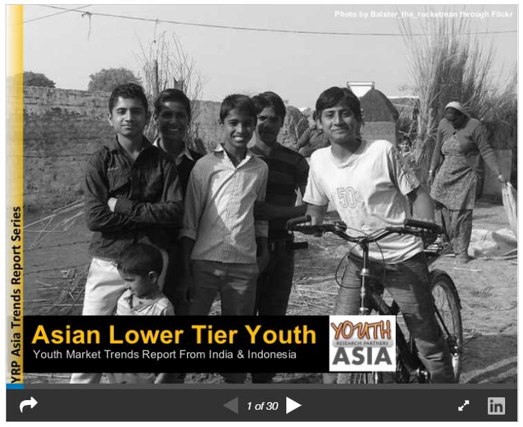 Asian lower tier youth: Youth market trends from India & Indonesia