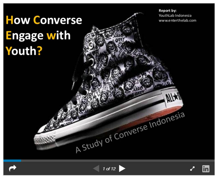 How converse are marketing with youth
