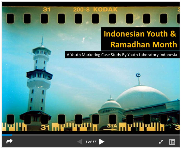 Indonesian youth culture in ramadhan month