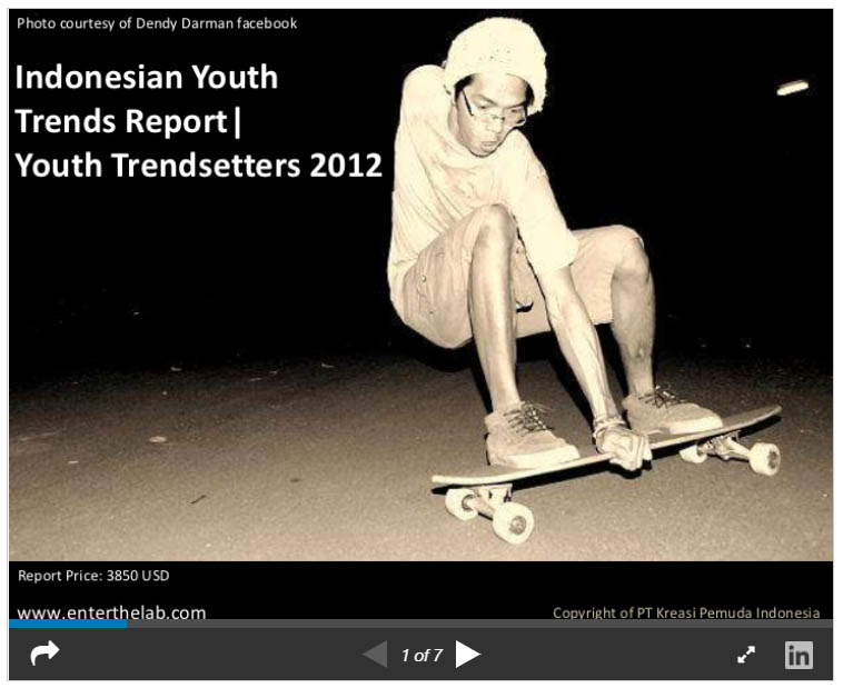 Indonesian Youth Trends Report: Youth trendsetters 2012