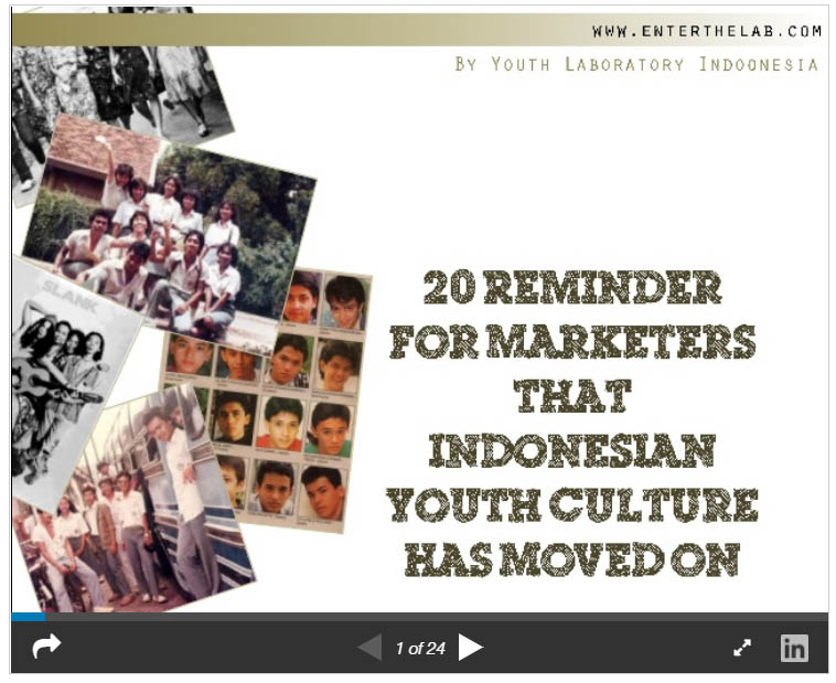 20 reminder for marketers that indonesian youth culture has moved on