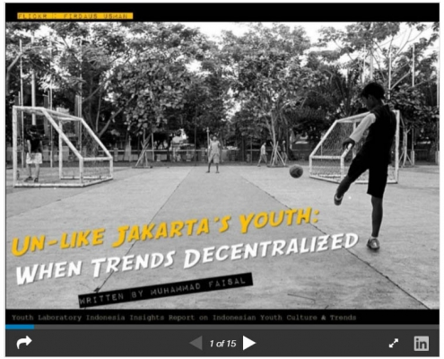 Unlike Jakarta's youth: when trends decentralized from the capital city