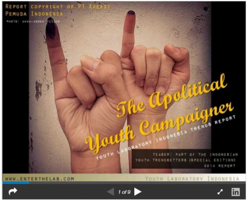 The Apolitical Youth Campaigner in Indonesia 2014