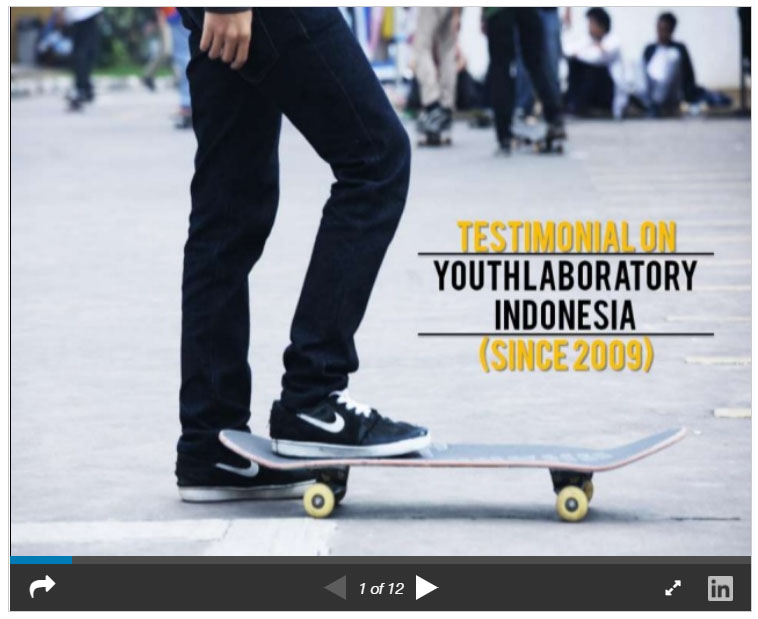 Testimonial on Youth Laboratory Indonesia Since 2009